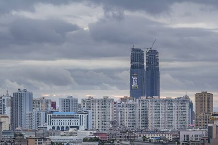 KUNMING, CHINA - JUN 28: Cityscape and building in downtown Kunming, China on June 28, 2015. Kunming is capital of Yunnan province most famous city of southwest china.