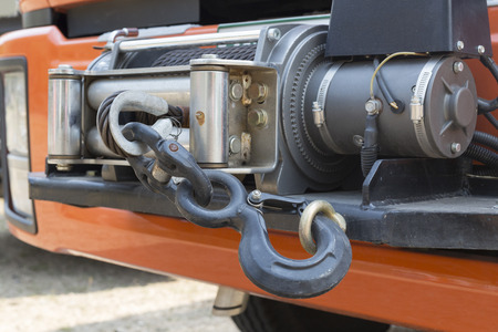 winch: winch on front of rescue truck