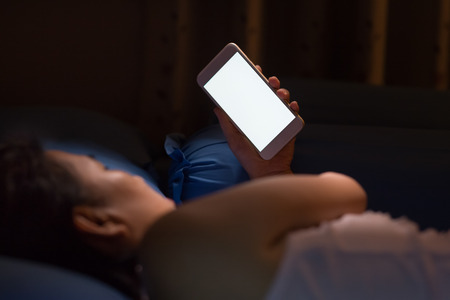 Using cell phone at night lead to blindness