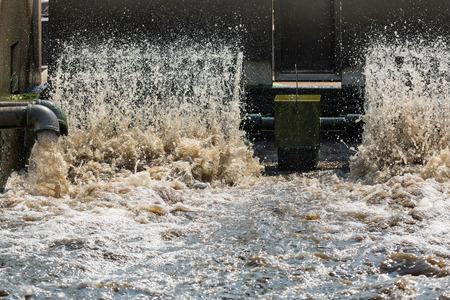 sedimentation: Waste water treatment plant.