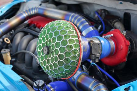 Race car air filter Stock Photo