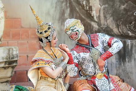 ramayana: Hanuman and Suvannamaccha in mask dance Ramayana drama