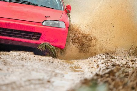 dirt: Rally Car in dirt track