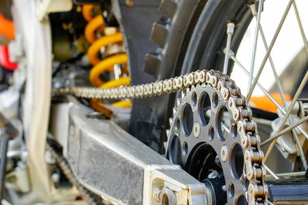 mx: Chain and sprocket of motocross bike