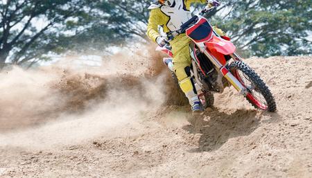 motocross speed in track Stock Photo