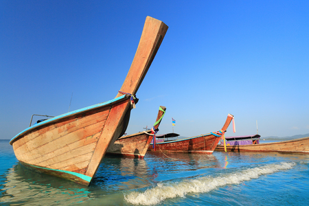 aonang: Longtail boats at  Ao Nang beach,  Krabi , Thailand