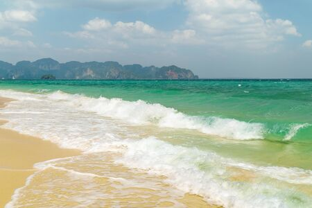 aonang: Poda island beach near Ao Nang ,Krabi Thailand. Stock Photo