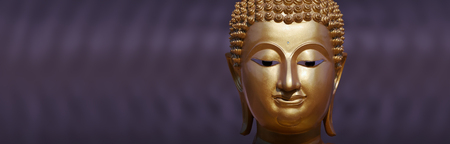 thai culture: Golden Buddha statue close up