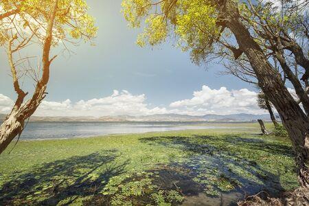 Erhai lake in Dali, Yunnan province, China. Stock Photo