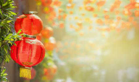 Chinese new year lanterns in chinatown Standard-Bild