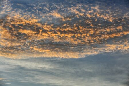 Altocumulus Clouds in morning Stock Photo