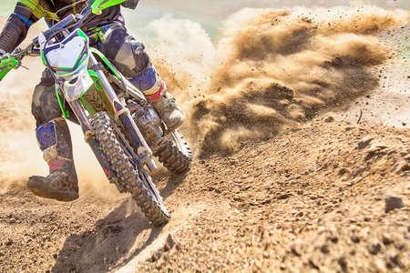 motocross racer accelerating speed i