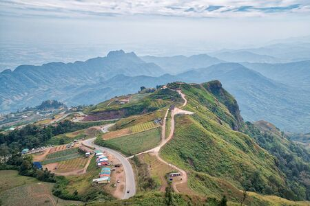 Phu Tubberk is a famous travel location and this mountain is the highest point of Phetchabun Province , Thailand
