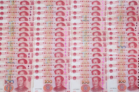 Chinese 100 RMB ,Yuan banknotes from Chinas currency.