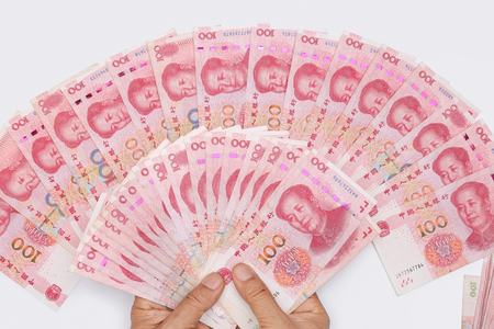 Chinese 100 RMB ,Yuan banknotes from China's currency. 版權商用圖片 - 117689747