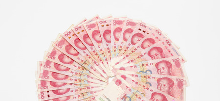 Chinese 100 RMB ?Yuan banknotes from Chinas currency.