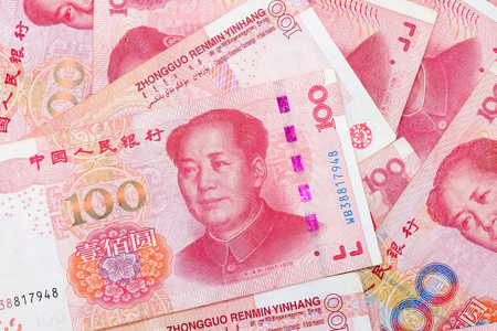 Chinese 100 RMB ,Yuan banknotes from China's currency. 版權商用圖片 - 117689598