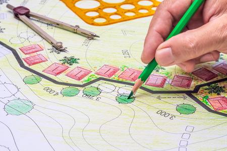 Landscape architecture design garden plan for housing development