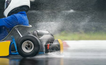 Go Kart increase speed with rain tire in race track