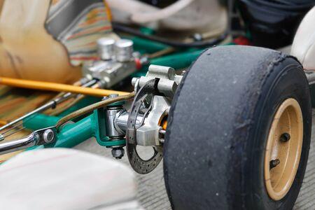 Go kart front disc brakes in service station