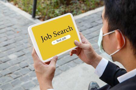 Employee lost a job during the COVID-19 crisis Foto de archivo