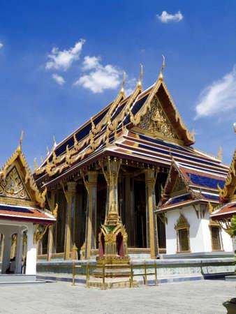 Wat Phra Kaeo (Temple of Emerald Buddha) at Grand Palace, Bangkok, Thailand Stock Photo