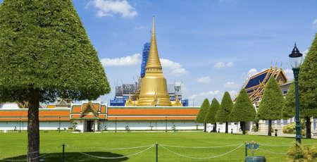 Wat Phra Kaeo (Temple of Emerald Buddha) at Grand Palace, Bangkok, Thailand