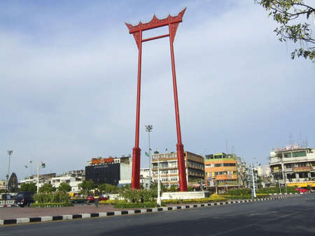 Giant Swing located in front of the Bangkok Thailand