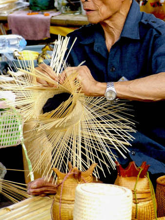 handicraft , bamboo  in Thailand
