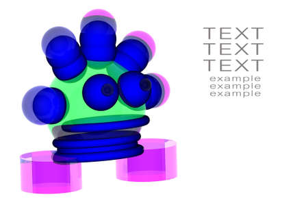 3d robot with space for text  Stock Photo