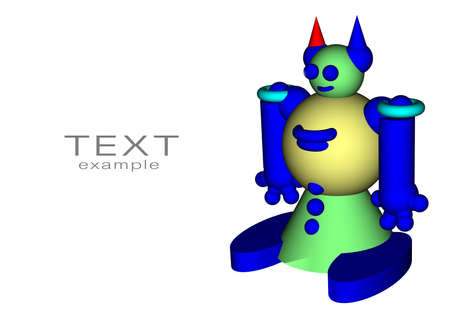 Toy Robot with space for text