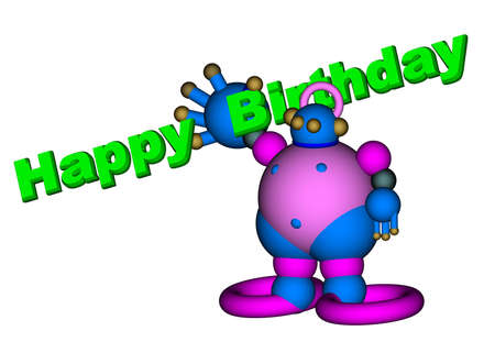 robot Happy Birthday Stock Photo - 7713816
