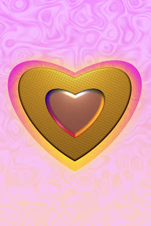 gold heart Colorful surface. abstract background space for text  photo