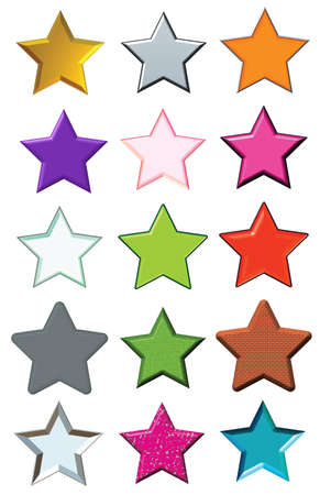 Set stars Stock Photo - 8032691