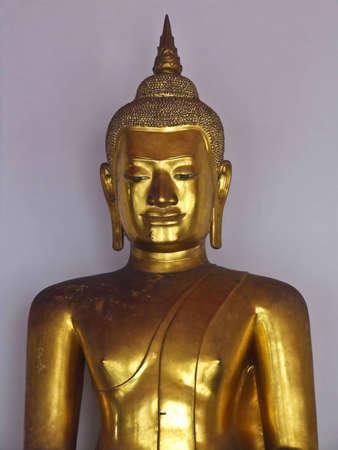 Golden buddha statues in wat pho, Bangkok  Thailand Stock Photo