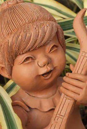 Doll clay Thai folk art