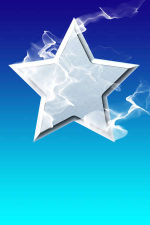 star on a  blue background Stock Photo