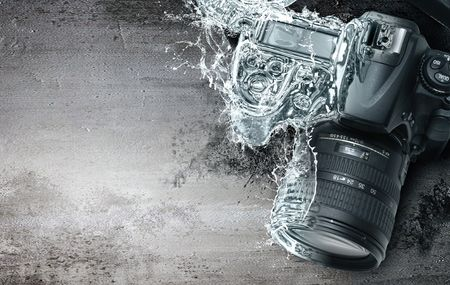 resistant: A camera transformed from water Stock Photo