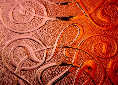 Copper pattern photo