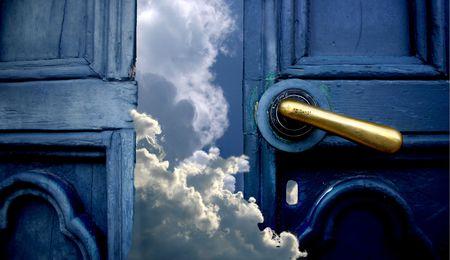 cielos abiertos: Puerta al cielo Foto de archivo