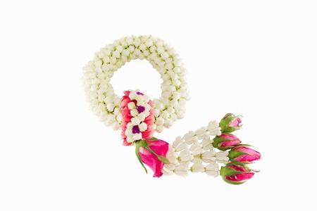 thai craft: Jasmine garland Mother s Day in Thailand