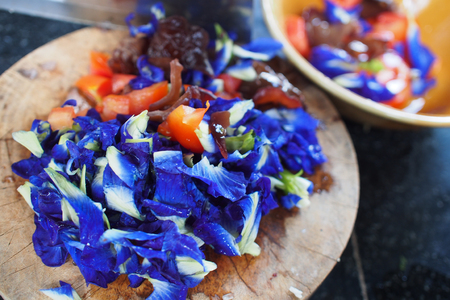 Butterfly pea for cooking in kitchen