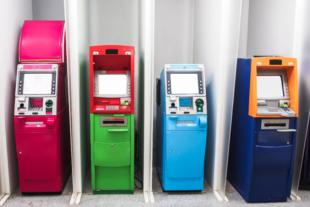 various color Automated teller machine ATM Banco de Imagens - 27863932
