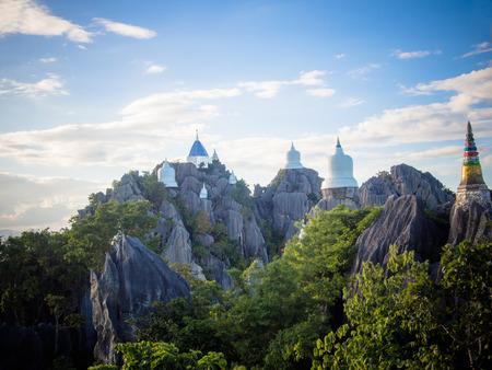 Wat Prajomklao Rachanusorn Thai Temple on high mountain at Lampang, Thailand