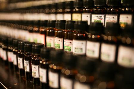 thai herb perfume oil bottles