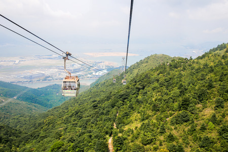 Ngong Ping 360 cable car to Tian Tan Buddha, Hong Kong