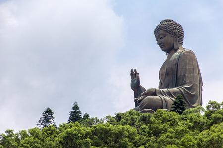 Tian タン仏像ランタオ島、Hong Kong 写真素材