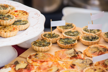 Baked Pie Spinach with Cheese in Banquete