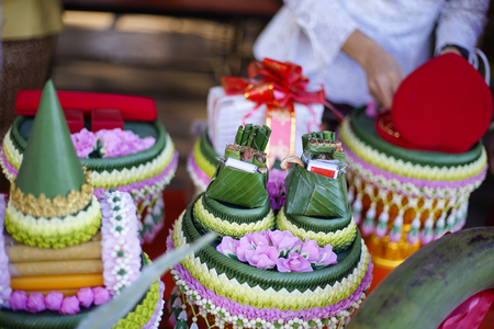 present in wedding day Thai and Chinese style Banco de Imagens - 95591785