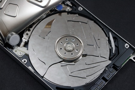 physically: Hard disk physically destroyed